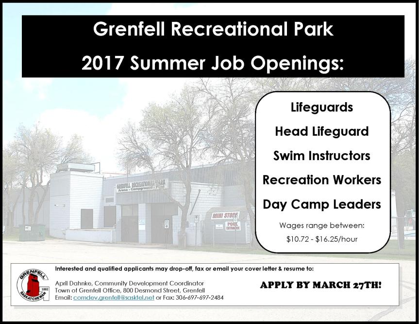 grenfell-recreational-park-summer-staff-job-posting