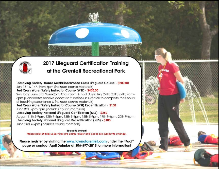 Revised Lifeguard Certification Training Poster 2017